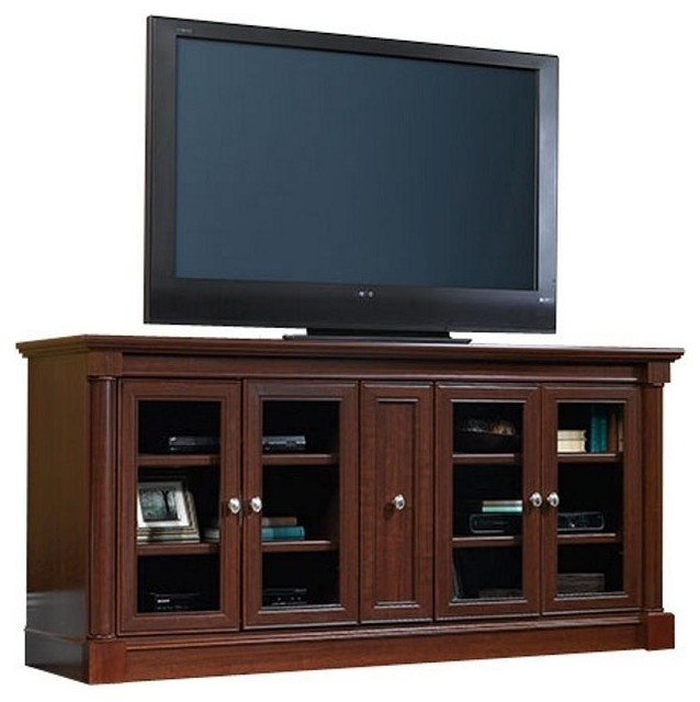 Sauder Palladia Credenza, Cherry - Transitional - Entertainment Centers And Tv Stands - by ...
