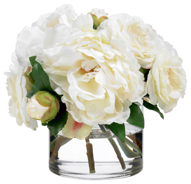 Diane James Creamy Camellias And Peonies Contemporary Artificial Flower Arrangements By Home