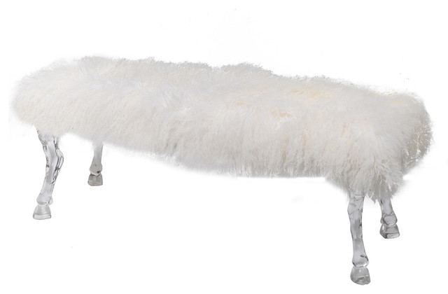 Mongolian Fur Bench.