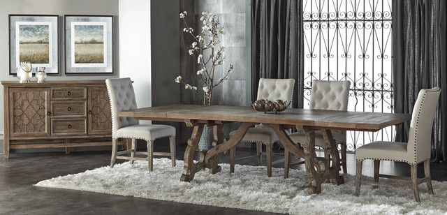 El Dorado Furniture Accessories Haute 5 Piece Formal Dining Set Rustic Room