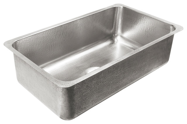 """Taylor Undermount Crafted Stainless 32"""" Kitchen Sink, Brushed Stainless"""
