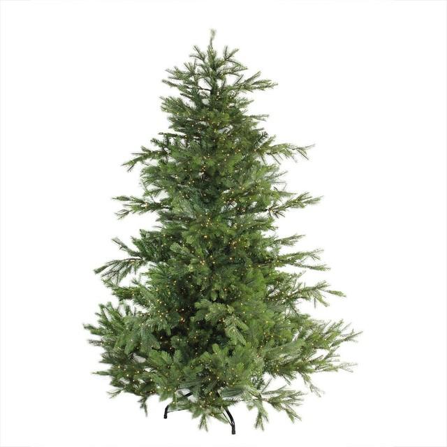 Noble Fir Christmas Tree.Noble Fir Artificial Christmas Tree Warm Clear Micro Rice Led Lights