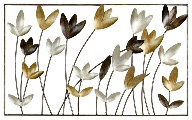 Aliza Metal Flowers Wall Decor. -1