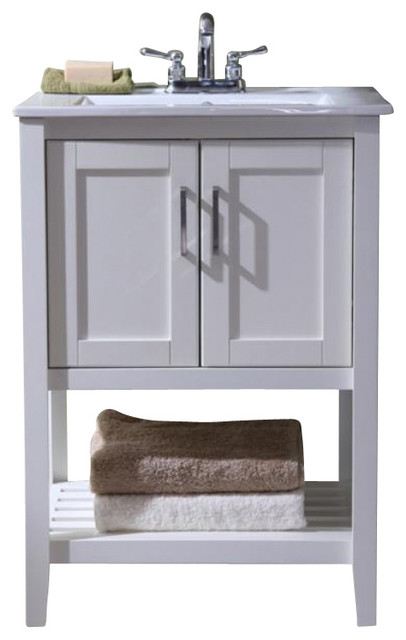 Shop houzz legion furniture 24 transitional single sink for Console bathroom vanity