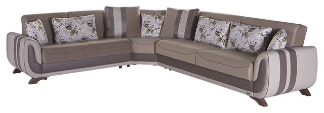 Colombia Sectional Sofa Bed With Storage, Reversible.