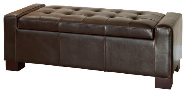 Rothwell Leather Storage Ottoman Bench