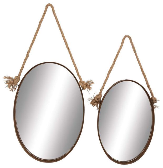 Metal Rope Mirror, 2-Piece Set.