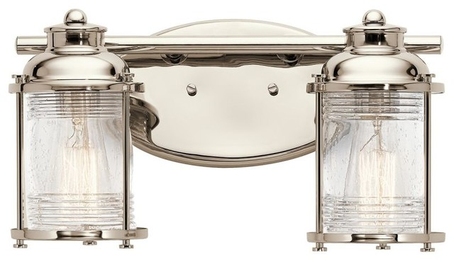 Bathroom Vanity Lights Kichler kichler 45771 ashland bay 2 light bathroom vanity light - beach