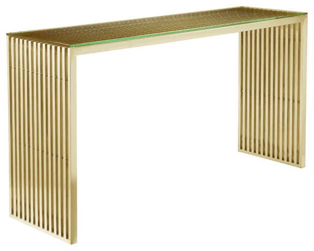 Lux Console, Gold.