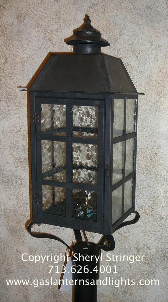 Post Mount Gas Lanterns by Sheryl Stringer www.gaslanternsandlights.com