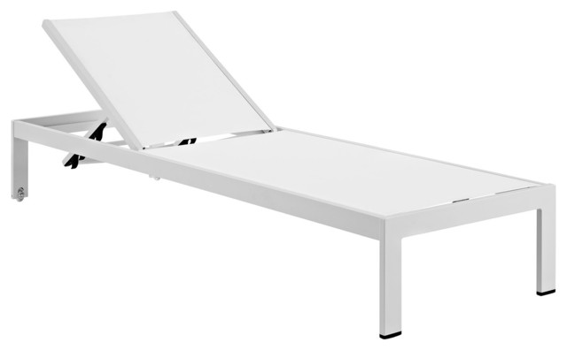 Shore outdoor patio aluminum chaise modern outdoor - Chaise longue aluminium ...