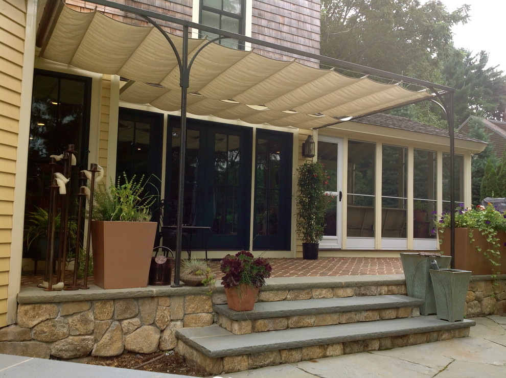 Bronze and Fabric Retractable Awning - Craftsman - Boston ...