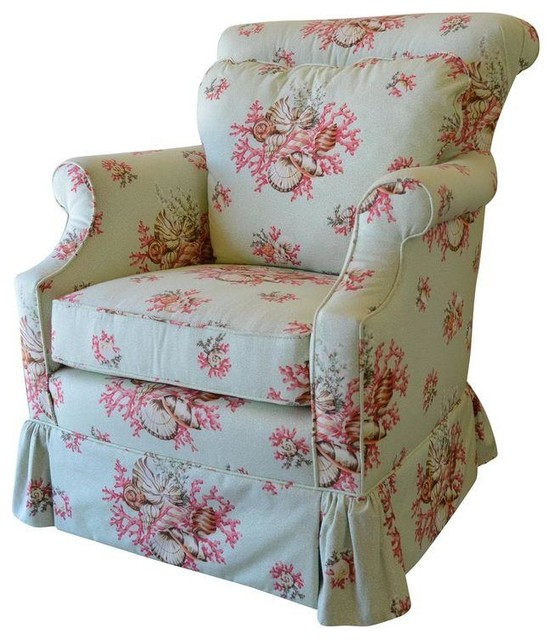 Scalamandre Chintz Upholstered Club Chair  sc 1 st  Houzz & Scalamandre Chintz Upholstered Club Chair - Modern - Armchairs And ...