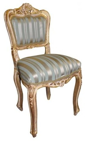 Gold And Duck Egg Striped Sofa   House Of Cards   White House