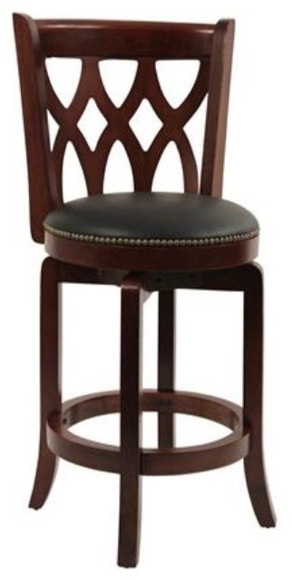 Dune Cathedral Swivel Counter Stool, Cherry.