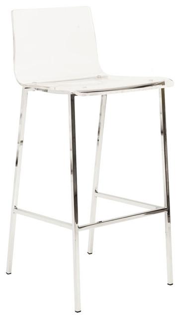 Pointe Pillon Acrylic Bar Stools Set Of 2 Contemporary