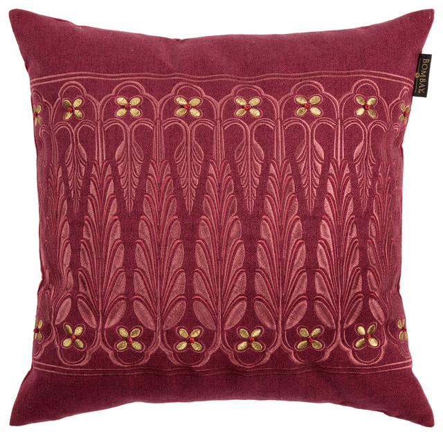 Bombay Point de Lac Pillow - Eclectic - Decorative Pillows - by Bombay Outdoors