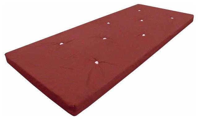 Contemporary Single Futon Mattress with Velcro Straps