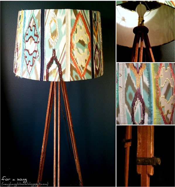 Make Your Own Tripod Lamp Eclectic Floor Lamps By