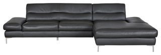 Campsis leather sectional right chaise contemporary for Campsis chaise sectional