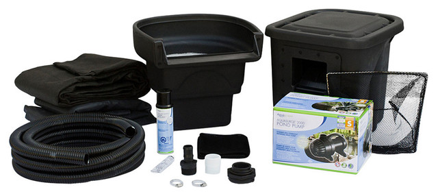 Complete diy backyard pond kit 4 39 x6 39 contemporary for Coy pond accessories
