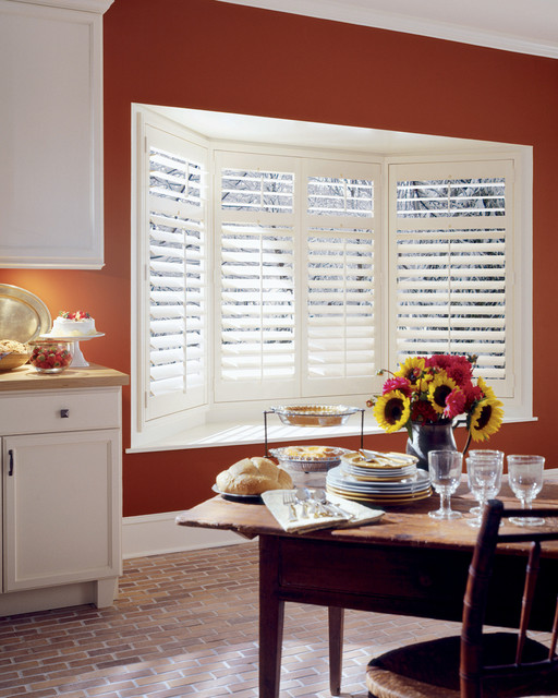 Bay Window Shutters Interior Shutters Farmhouse Indianapolis