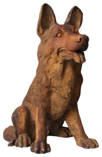 Little German Shepherd Garden Animal Statue