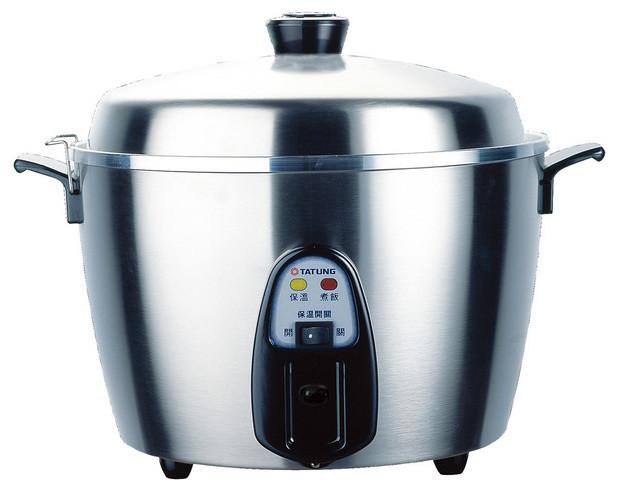 Tatung 11 Cups Rice Cooker And Steamer, Stainless Steel.