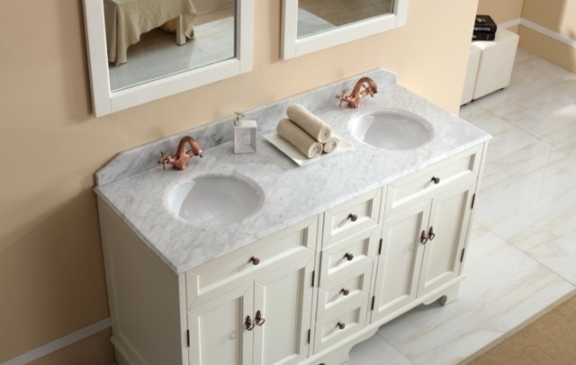 Traditional Vanities   Casoria White Vanity With Marble Top Traditional  Bathroom Vanities And