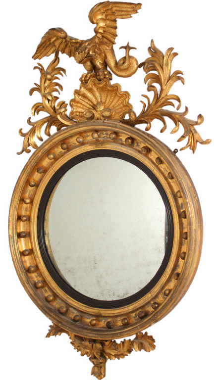 Amazing Large Convex Mirror with Dragon eclectic mirrors