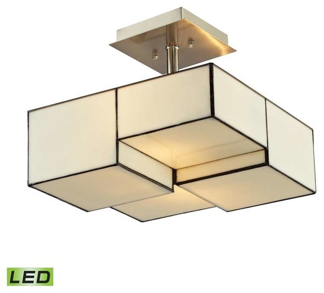 Elk Lighting 72061-2-Led Cubist Modern Semi Flush Mount Ceiling Light.