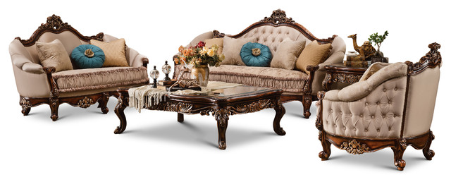 Bristol 5 Piece Living Room Set Victorian Living Room Furniture
