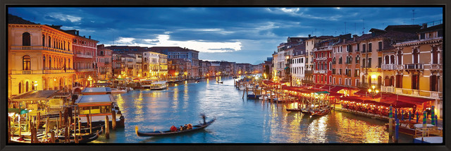 venice glowing at dusk framed print modern prints and posters
