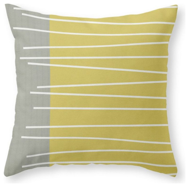Mid Century Throw Pillow : MId Century Modern Textured Stripes Throw Pillow - Midcentury - Decorative Pillows - by Society6