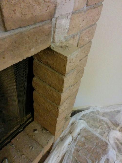 Best way to cut slump block portion on fireplace