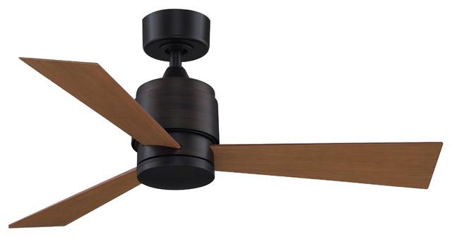 "Zonix Ceiling Fan Dark Bronze With Cherry Blades, 44""."