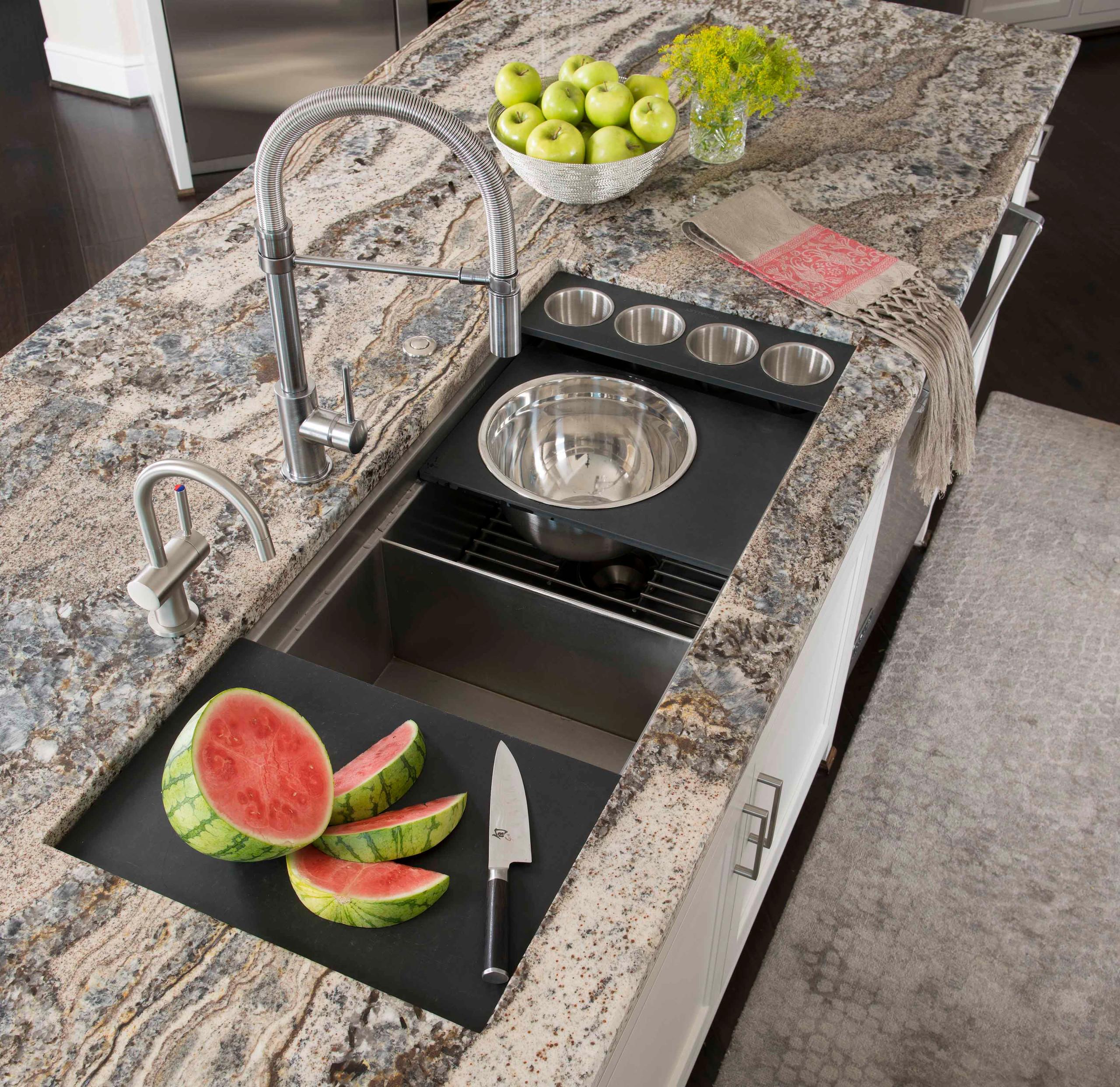 Modern Mediterranean Kitchen Sink Detail