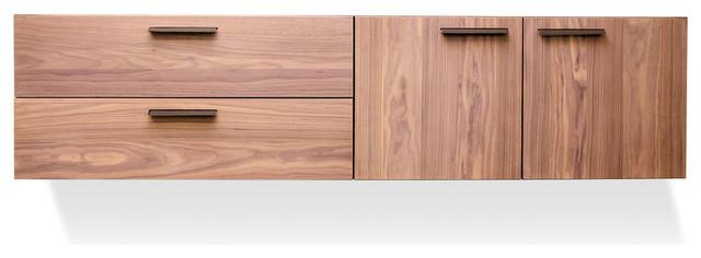 blu dot shale 2 door / 2 drawer wall-mounted cabinet - modern