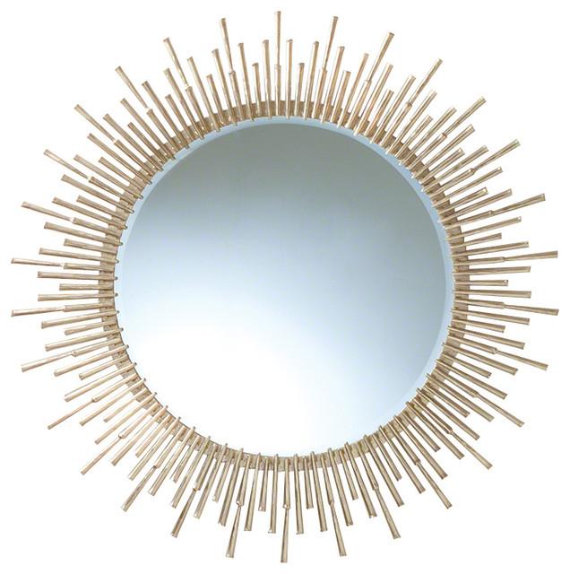 Global Views Sunburst Mirror Nickel: Global Views Spike Mirror