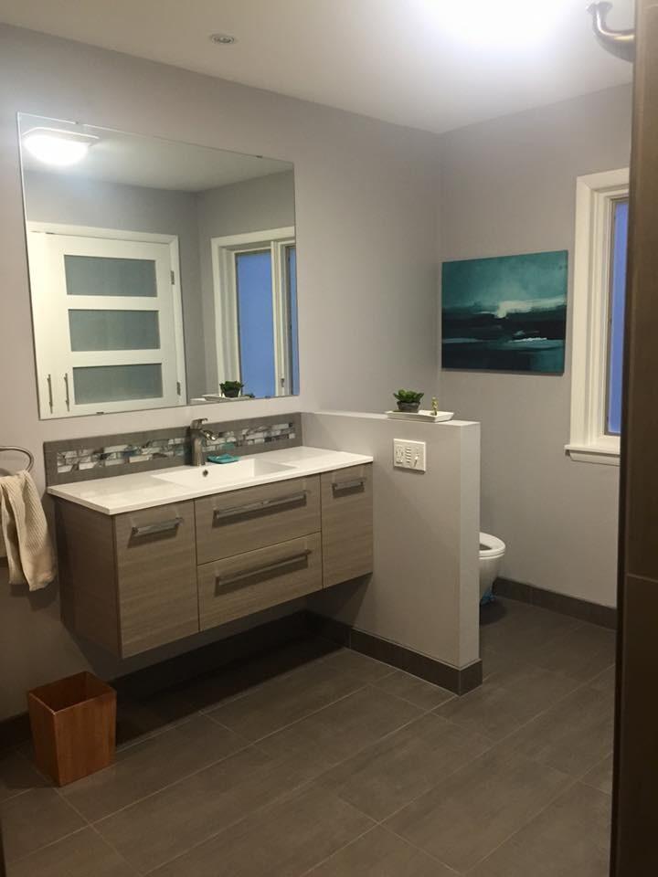 Contemporary Bathroom & Laundry Room