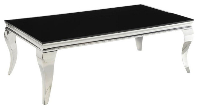 Glam Coffee Table With Queen Anne Legs Contemporary Coffee