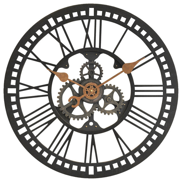 Roman Gear Wall Clock Industrial Wall Clocks By