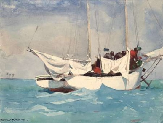 Sloop Bermuda  by Winslow Homer  Paper Print Repro