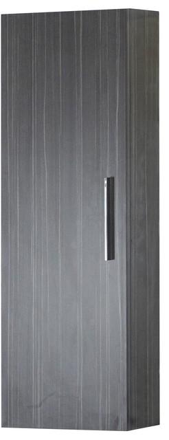 """12""""x36"""" Modern Plywood-Melamine Medicine Cabinet, Dawn Gray."""