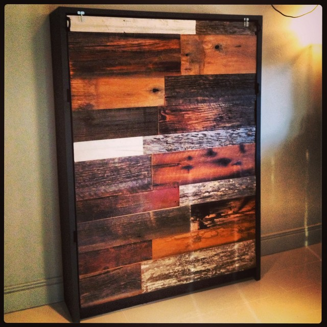 Beds - Reclaimed Barn Wood and Steel Murphy Bed
