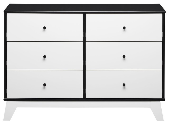 694a0807a4c Little Seeds Flint 6-Drawer Dresser, Black - Midcentury - Kids Dressers And  Armoires - by Dorel Home Furnishings, Inc.