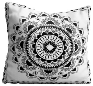 Boho Indian Mandala Throw Pillow Case - Decorative Pillows - by Famenxt