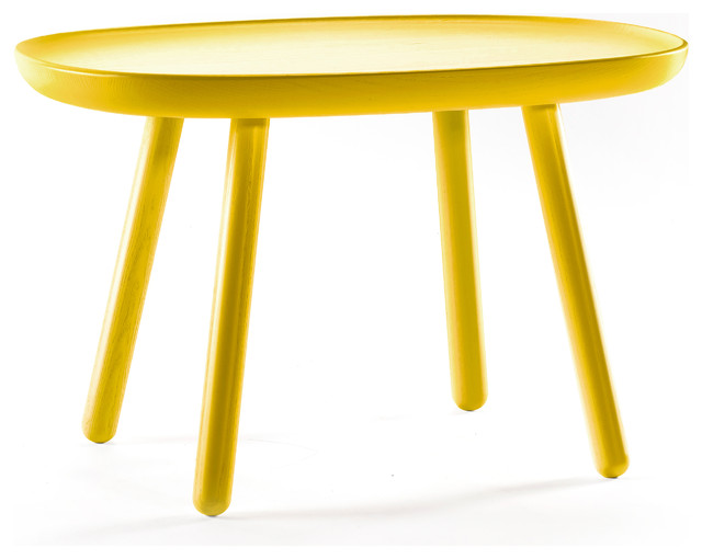 Naïve L610 Wooden Coffee Table, Yellow midcentury-coffee-tables
