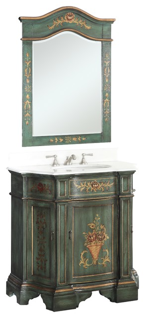 hand painted bathroom cabinets 35 quot painted green crossfield bathroom sink 18651