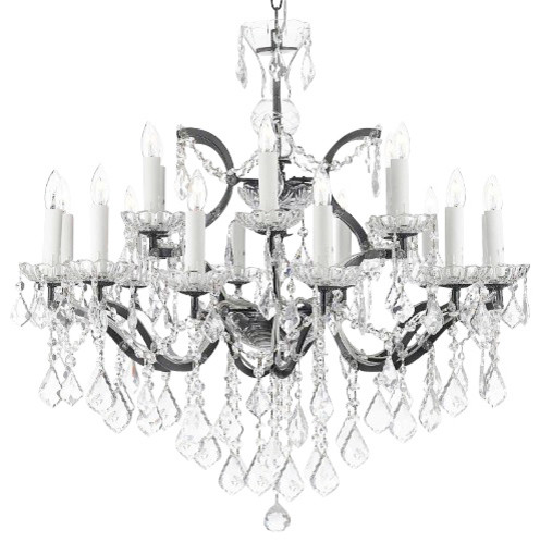 The Gallery 19th C Rococo Iron And Crystal Chandelier